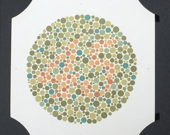 Ishihara Colour Blindness Test plate #9 - brown 45