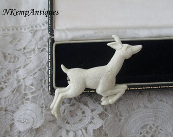 Celluloid brooch deer 1930's made in England