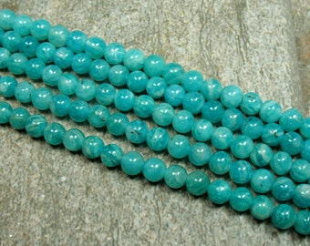 "Russian Amazonite Beads, 4 mm - 15.5"" strand - Item B0590"