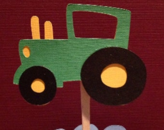 Tractor Cupcake Topper