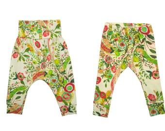 Baby Leggings, Toddler Leggings, Girls Leggings, Baby Harem Pants, Toddler Harem Pants, Yoga Pants, Girls Floral Pants, Secret Garden