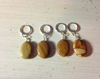 Stone Look Knitting Stitch Markers #2
