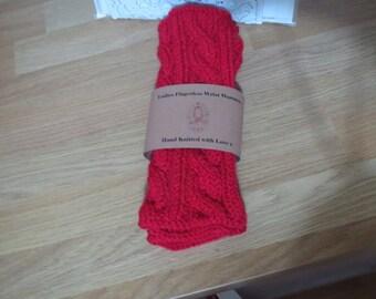 Ladies knitted wristwarmers