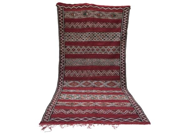 marocain berb re 5 x 11 kilim fait main 100 laine nomade. Black Bedroom Furniture Sets. Home Design Ideas