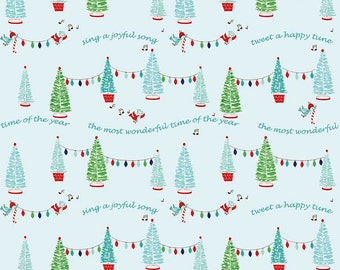 PIXIE NOEL 1/2 yard by Tasha Noel for Riley Blake Trees Aqua