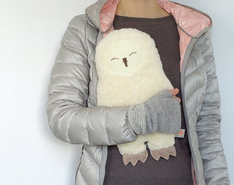 Hot water bottle cover, Owl, Snowy owl, pillow, Living at home, home, wellness, woodland animals, gift