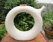Vintage Mid-Century Doughnut Pitcher - Hartstone Pottery Ring Pitcher - Unique Modernist Pitcher