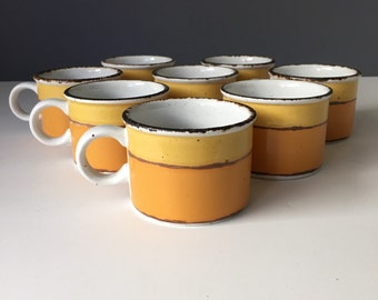 Stonehenge Midwinter Sun, Mugs or Coffee Cups, Set of EIGHT