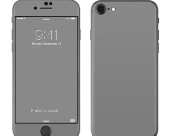 Solid Grey - iPhone 7/7 Plus Skin - Sticker Decal