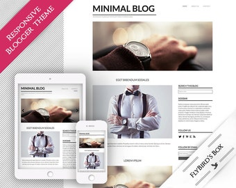 "Responsive Blogger Template ""Minimal Blog"" ⊳ pre-made minimal Blogger theme"