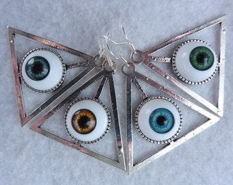 Nec Deum, Nec Dominum Eyes Earrings - Esoteric Evil Witch Providence