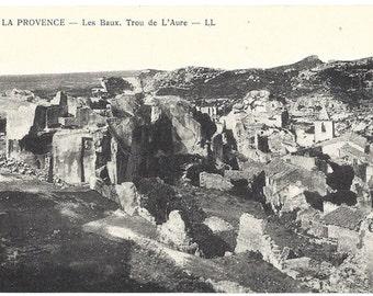 Vintage Postcard - Les Baux de Provence - Trou de L'Aure - Evy Neurdein Reunis - Paris