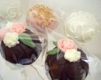Floral Wedding Cake Pops (1 dozen)