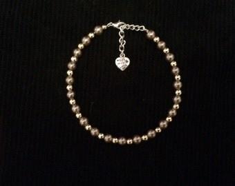 Soft Gold and Bronze Beaded Bracelet