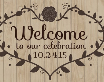 Welcome To Our Celebration Custom Wedding/Anniversary Banner