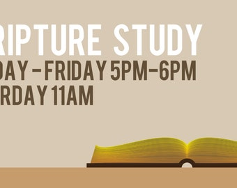 Scripture Study Custom Church Banner