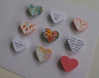 Handmade personalised Engagement card - Tropical - unique keepsake