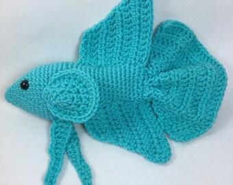 Crochet Betta (Amigurumi, Handmade, Siamese Fighting Fish, Stuffed Animal, Toy)