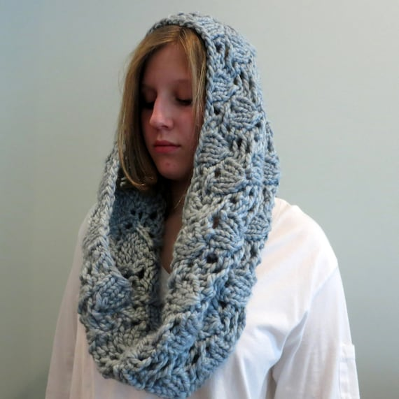 Knit Scarf Pattern With Bulky Yarn : Knitting Pattern, Cowl, Infinity Scarf, Super Bulky Yarn, Chunky Cowl, Lace C...