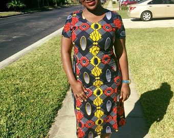 Plus size African Dress, African print dress