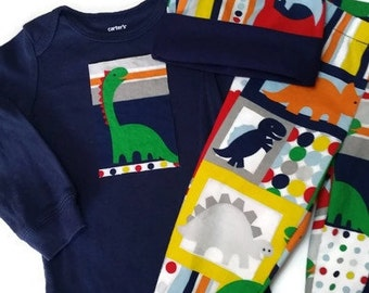 Baby Boy Dino Coming Home Outfit, Baby Boy Pant Set, Newborn Dino Pant Set, Birthday Outfit, Boy Pant Set, Daddys Boy,  Baby Boy Outfit
