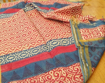 Exclusive hand block printed silk cotton  stoles/scarves..wear something different this summer?