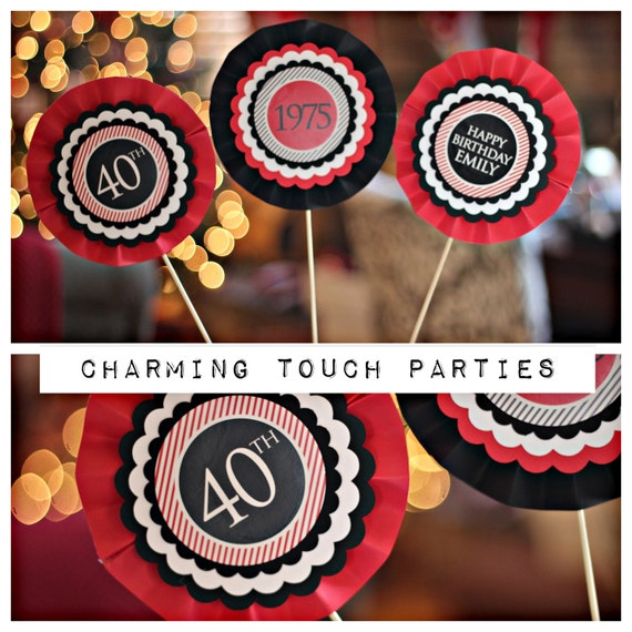 40th birthday party centerpiece party decoration decor for 40th birthday decoration