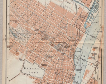 Vintage map of Albany from 1909 - 00134