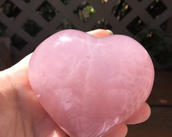 3 Inch Rose Quartz Heart