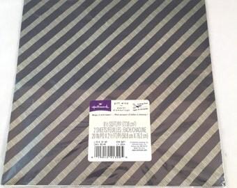 Black and Gray Striped Gift Wrap, Vintage Wrapping Paper, Hallmark Gift Wrap, 2 Sheet, Country Kids Design, Seasonal Seasons Celebration