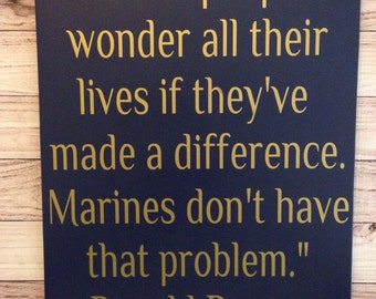 Marine Corps Quotes Prepossessing Us Marine Corps Usmc Ronald Reagan Quote Wood Sign 12 X