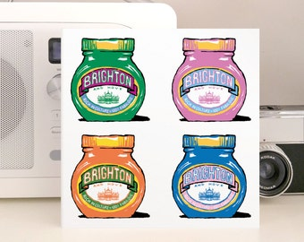Brighton & Hove Marmite 4 - unusual fun greetings card inspired by your favourite kitchen favourite