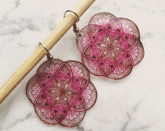 I Want to Do What the Spring Does Mandala Earrings