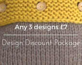Knitting Pattern - Design Discount Package - Rebecca's Room