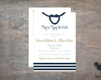 Modern Nautical Shower Invitation (25 Invitations)