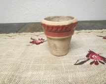 vintage Small RPW 2.5 USA FLOWER Pot or Vase *  Rowe Pottery Works ** mid century