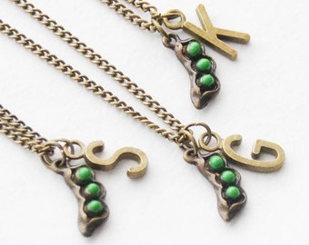 Best Friend Necklaces, 3 Peas in a Pod Necklaces, Three Friendship Necklaces, 3 Sisters Necklaces, Pea in a Pod Jewelry, Best Friend Jewelry