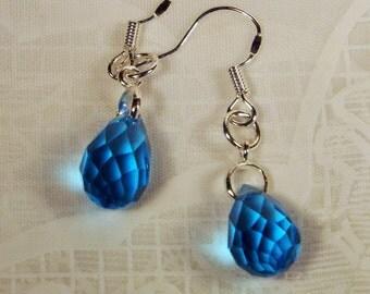 "Cynthia Lynn ""EXQUISITE"" Sterling Silver Blue Topaz Drop Earrings"