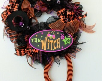 The Witch Is In! Halloween Wreath