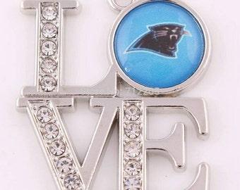LOVE Carolina Panthers Pendant