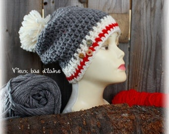 "Tuque ""Old low of wool"" (on order)"