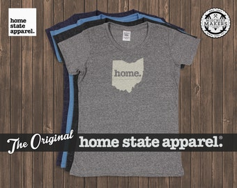 Ohio Home. T-shirt- Womens Cut