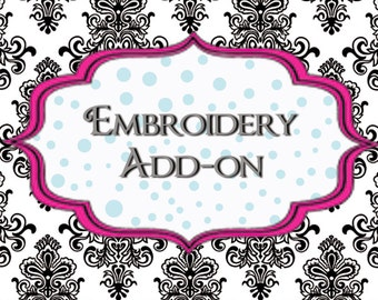 Add Embroidery Personalization
