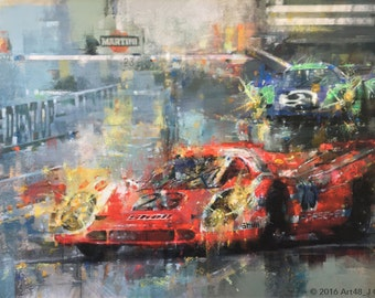 Legends at Le Mans 1970 - Limited edition print