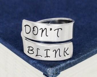 Don't Blink Adjustable Aluminum Twist Ring
