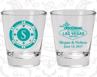 Las Vegas Shot Glasses, Wedding Favor Shot Glasses, Just Married Shot Glasses, Monogram Poker Chip, Las Vegas Sign, Wedding Favor Shot (59)