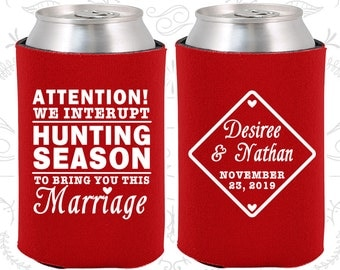 Red Wedding, Can Coolers, Red Wedding Favors, Red Wedding Gift, Red Wedding Decor (319)