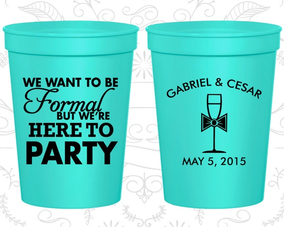 Plastic Wedding Cups C366 Personalized Cups Wedding Cups
