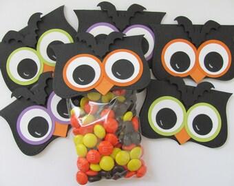 Halloween Treat Bags, Halloween Treat Bag Toppers, Halloween Favor Bags, Halloween Candy Bags and Toppers, Owl Party Favors,Halloween Treats