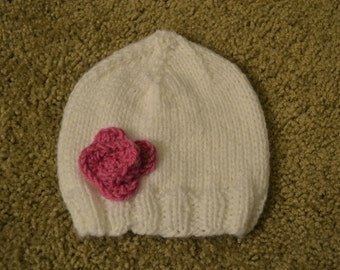 Hand-Knitted Baby Girl Hats